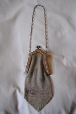 Antique 1920's Whiting Davis Soldered Mesh Silverplate Change Purse
