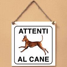 Cirneco dell'Etna 4 Attenti al cane Targa cane cartello
