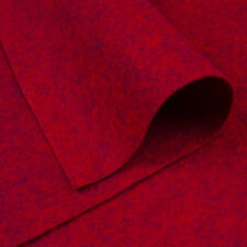 Woolfelt ~ 22cm x 90cm ~ Pick a Shade / wool blend felt fabric red heathered