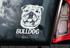 English Bulldog - Car Window Sticker - Dog Sign -V02