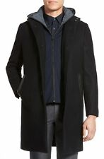 Vince Layered Wool Blend Coat, SMALL, NWT, BLACK M27814351