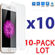 10x Wholesale Lot Tempered Glass Screen Protector for Apple iPhone 7 Plus
