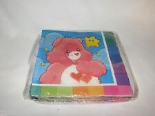 NEW 16 CARE BEARS DESSERT NAPKINS RAINBOW PARTY SUPPLIES
