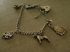 Vintage sterling silver charm bracelet hallmarked for London 1979