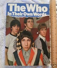 The Who in their own words book Clarke 1979 Pete Townsend Omnibus Press