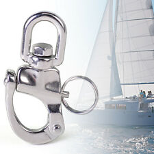 7cm New Stainless Steel Marine Boat Swivel Snap Shackle Yacht Sailing Hardware