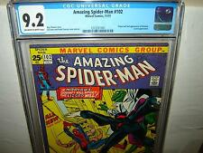 Amazing Spider-Man 102 (CGC 9.2) OW/W p; Origin & 2nd Morbius 1971 (r#00018)