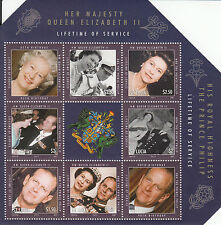 St Lucia 2011 MNH Lifetime of Service 6v M/S Queen Elizabeth II Philip Stamps
