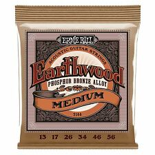 ERNIE Ball Earthwood bronzo al Fosforo chitarra ACUSTICA MEDIUM Stringhe Gauge 13-56