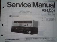 TECHNICS RS-M226 Cassette Tape Deck Service manual wiring parts diagram RS-M24
