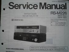 TECHNICS RS-M226 Cassette Tape Deck Service manual wiring parts diagram RS-M24
