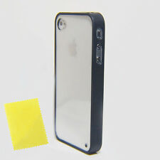 Black Finest Slim Soft Trim Back Hard Cover BumPer Case For iPhone 4 4S 4GS AD