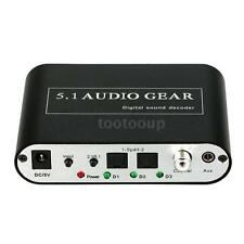 Digital DTS AC-3 Optical To 5.1 Analog Audio Gear Decoder Converter for DVD Z0H7