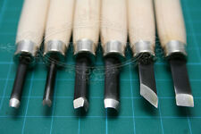 Handwork Wood Carving Chisels For Leather ,Woodcut Working DIY Tools 6pcs Set