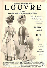 CATALOGUE GRANDS MAGASINS LOUVRE DEPARTMENT STORE CATALOG MODE FASHION 1908