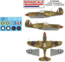 RAAF P-40C Tomahawk Mini-Set Decals 1/72 Scale N72040a