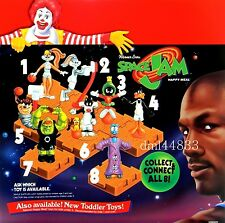 1996 McDonalds Space Jam MIP Complete Set - Lot of 8, Boys & Girls, 3+