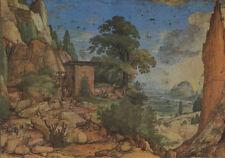 Alte Kunstpostkarte - Hans Bol - Landschaft mit Wassermühle