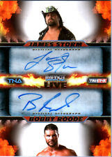 TNA James Storm & Bobby Roode 2013 Impact LIVE GOLD Autograph Card SN 11 of 99