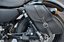 SADDLE BAG HARLEY DAVIDSON SPORTSTER MODELS ITALIAN QUALITY LEATHER IRON, 48 72
