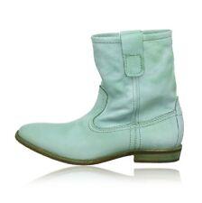 BUFFALO London green boots GARDA stivali stivaletti donna pelle verdi 38 BNIB