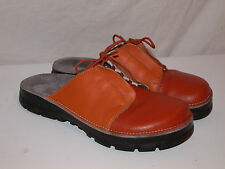 Womens ALPRO Birkenstock Germany Orange Lace Clogs Mules Shoes 40 9 Closed Foot