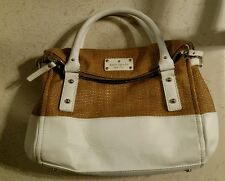 Kate Spade Cobble Hill Leslie Straw & Leather Satchel Handbag ($328)