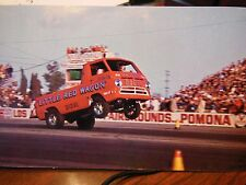 "VINTAGE RARE NHRA POST CARD LITTLE RED WAGON BILL""MAVERICK"" GOLDEN CALIFORNIA"