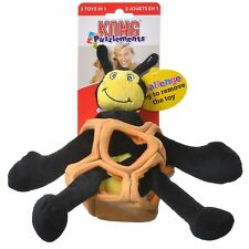 Kong Squeaky Plush Puzzle Crinkly Play 3 in 1 Toy - Puzzlements - Bee Small