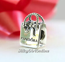 New Authentic Pandora 925 Sterling Silver Charm PANDORA Bag 791184