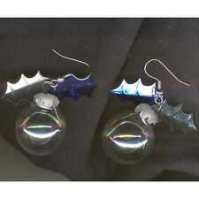 CRYSTAL BALL EARRINGS-Clear Glass New Age Metaphysical Jewelry