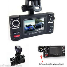 F30HD 1080P Dual Lens LCD Screen Vehicle DVR Camera Recorder Tachograph Dash Cam