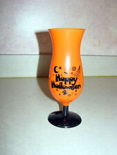 Halloween Party Hurricane Glass Cup Orange and Black - 16 ounces