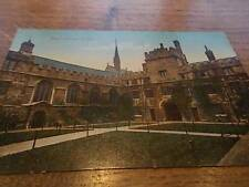 Vtg 1934 JESUS COLLEGE OXFORD UNIVERSITY Valentines colour postcard Oxfordshire