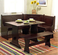 Dining Table Set For 6 Kitchen Nook With Bench Breakfast Corner Booth Wood Seats