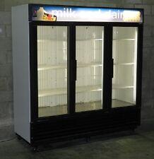 Used Three Glass Door Cooler Merchandiser