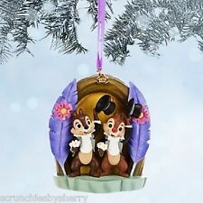 Disney Store Chip Dale Ornament Christmas Holiday Sketchbook 2014 New