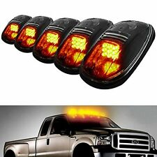 5x Smoked Amber Lens LED SUV Pickup 4X4 Cab Roof Top Running Marker Lights Lamps
