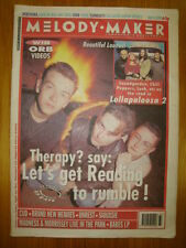MELODY MAKER 1992 AUG 15 THERAPY? CHILI PEPPERS MADNESS