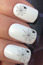 NAIL Art Set # 292. x24 Halloween Festa RAGNO ACQUA trasferimenti / Decalcomanie / Adesivi