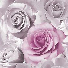 MURIVA MADISON ROSE FLORAL WALLPAPER PINK (119505) NEW FEATURE WALL