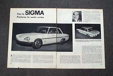AC98 - Clipping-Ritaglio - 1963 - CAN LA SIGMA PININFARINA HA VESTITO UN'IDEA
