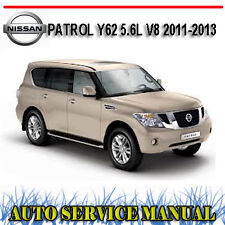 NISSAN PATROL Y62 5.6L V8 2011-2013 WORKSHOP SERVICE REPAIR MANUAL ~ DVD