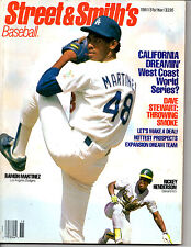 1991 STREET AND SMITH'S BASEBALL OFFICIAL YEARBOOK MAGAZINE-RAMON MARTINEZ