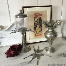 19th Century French Absinthe Fountain Set with Pot Spoons and original Poster