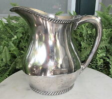 WW l l REED & BARTON SILVER SOLDER NAVY MESS HALL PITCHER W/ FOULED ANCHOR #3000