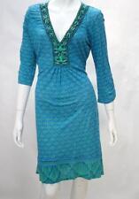 Hale Bob Vintage Bue Teal Shift Dress - NWOT *