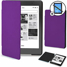 Forefront Cases® Purple Smart Case Cover Kobo Aura Edition 2 Screen Prot Stylus