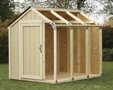 Outdoor Storage Shed DIY Building Kit Garden Utility Garage Tool Backyard Lawn