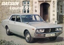 Datsun Nissan Laurel Six Saloon 1976-77 UK Market Leaflet Sales Brochure